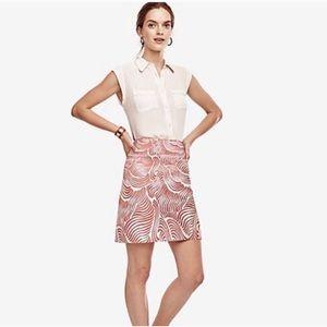 NWT Ann Taylor Orange Swirl Skirt